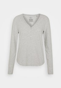 Lindex - NIGHT ANNELIE - Pyjama top - light grey melange - 0
