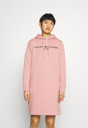 HOODIE DRESS - Day dress - soothing pink