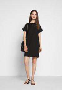KARL LAGERFELD - MERCERIZED DRESS  - Žerzejové šaty - black - 1