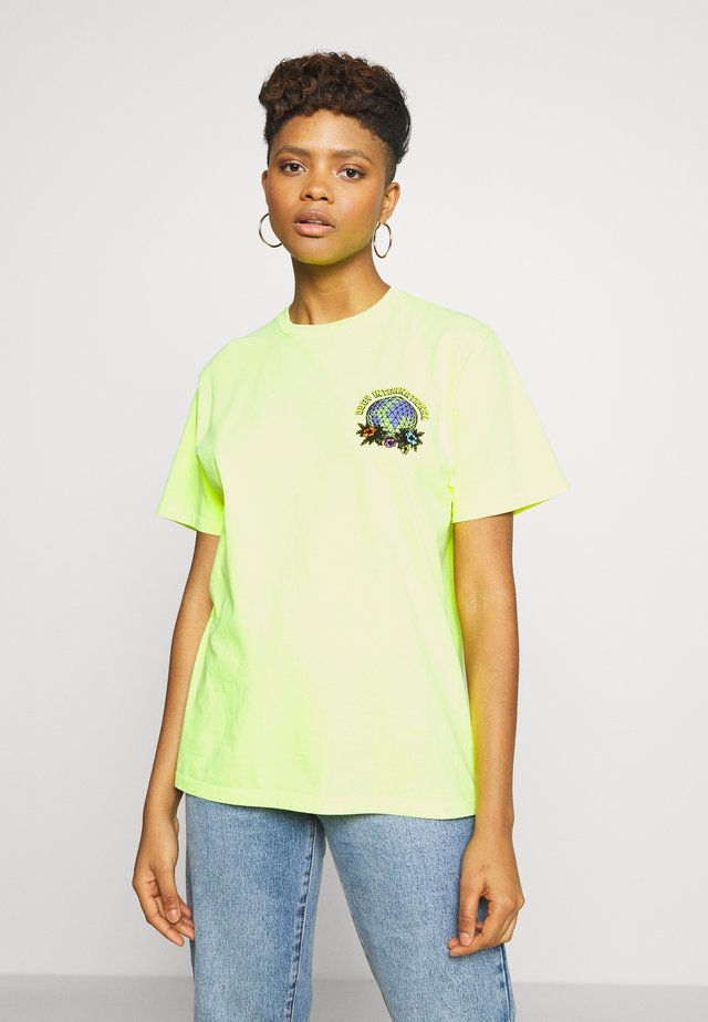 TAKE BACK THE PLANET - T-shirt con stampa - neon yellow