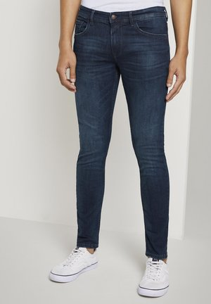 Skinny džíny - clean dark stone blue denim