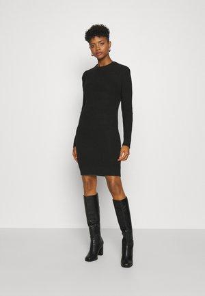 NMKAJA DRESS - Gebreide jurk - black