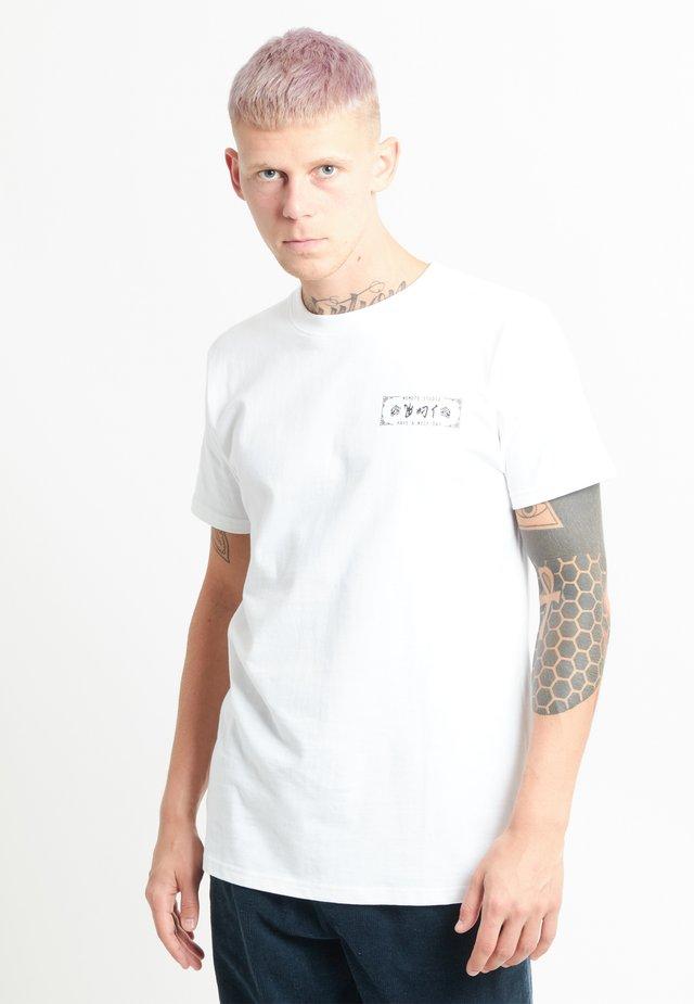 BILL TEE - T-shirt print - white
