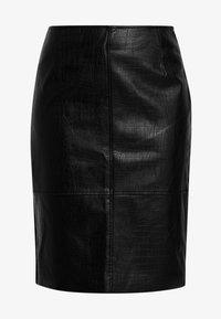 Esprit Collection - FAKE CORCODILE - Pennkjol - black - 3