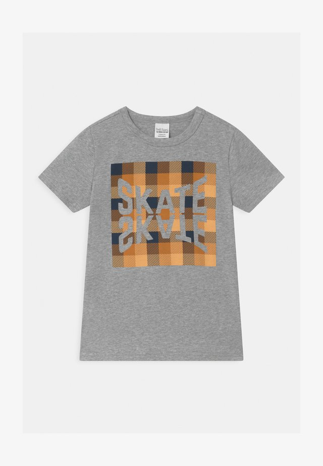SKATE CHECK UNISEX - T-shirts med print - pale grey