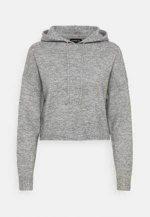 STRICK HOODIE - Strikkegenser - mottled grey