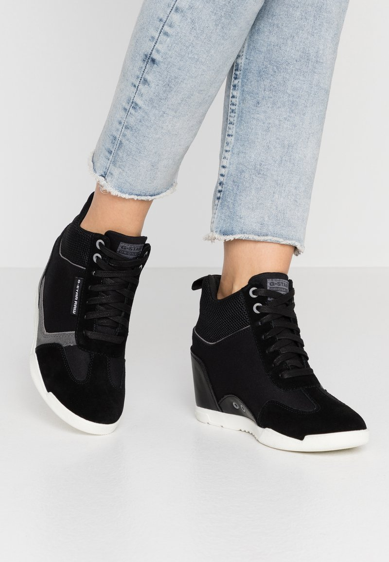 G-Star - BOXXA WEDGE - Høye joggesko - black