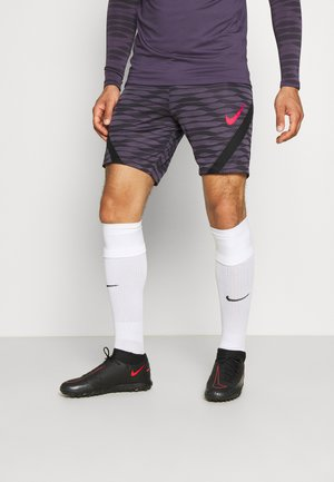 SHORT - Pantalón corto de deporte - black/dark raisin/siren red