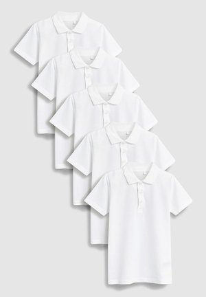 5 PACK - Polo shirt - white