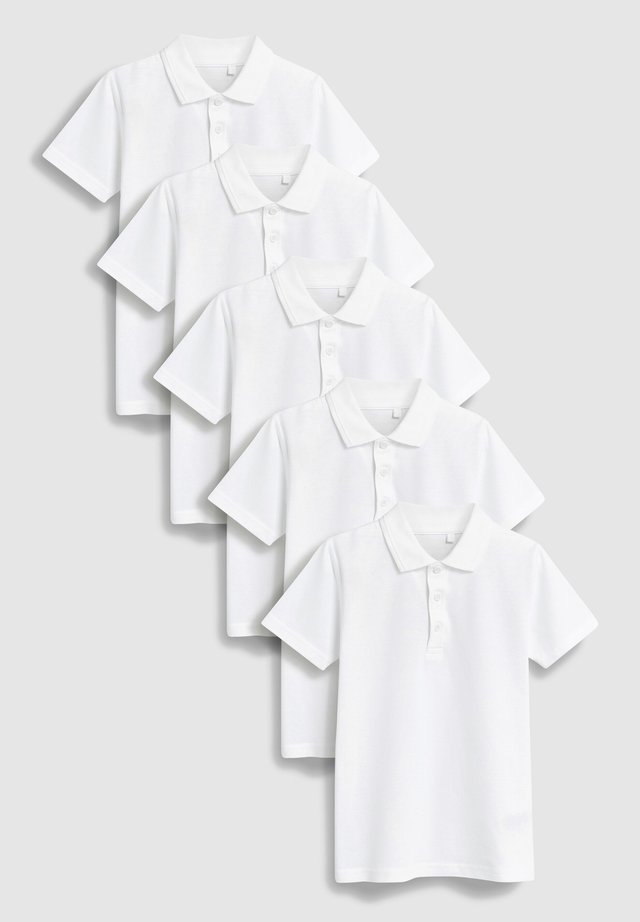 5 PACK - Polo - white