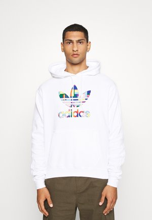 SPORTS INSPIRED REGULAR HOODED - Mikina s kapucí - white/multi coloured