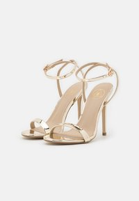 Missguided - BASIC BARELY THERE - Sandalias de tacón - gold - 2