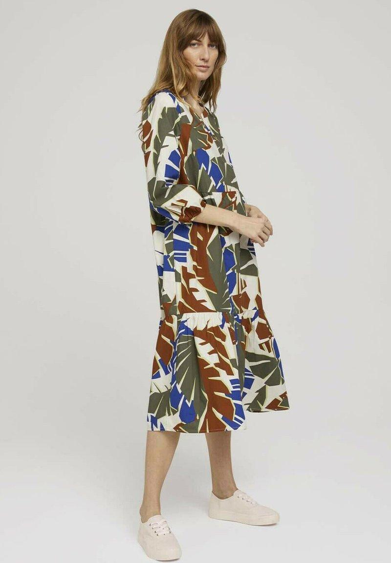 TOM TAILOR - Day dress - multicolor botanical design