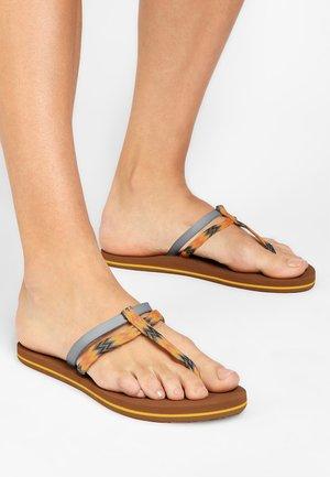 FW VENICE DITSY  - T-bar sandals - blue aop
