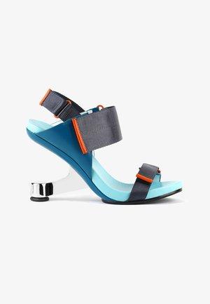 EAMZ RUN - High heeled sandals - blue beat