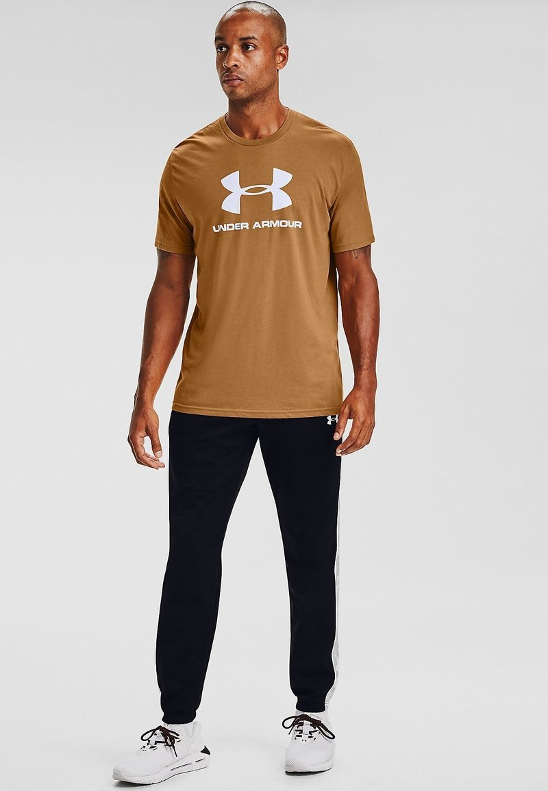 Under Armour - Print T-shirt - yellow ochre