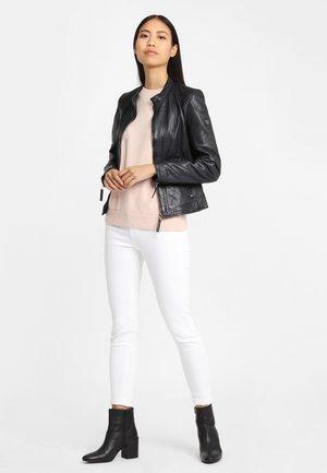 Leather jacket - black/blue