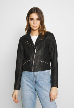 YASANDREA JACKET - Leather jacket - black