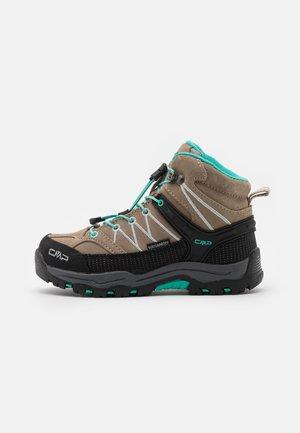 KIDS RIGEL MID SHOE WP UNISEX - Hiking shoes - wood/acqua