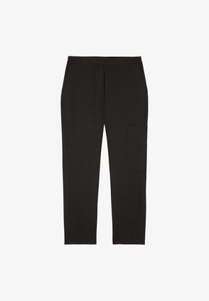 AUS STRETCHIGEM TWILL - Cargo trousers - black