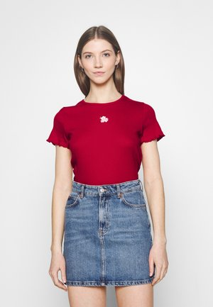 MAY TEE - Print T-shirt - red