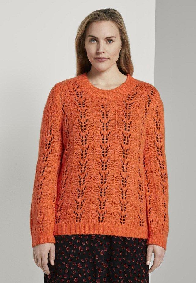 Pullover - knockout orange