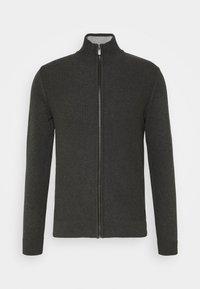 Cardigan - black grey melange