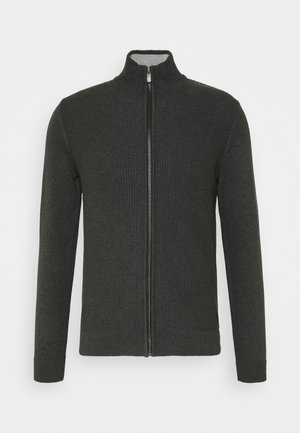 Cardigan - black grey melange
