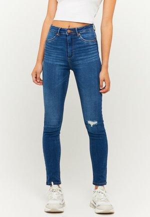 HIGH WAIST PUSH UP SKINNY JEANS - Jeans Skinny Fit - blu513