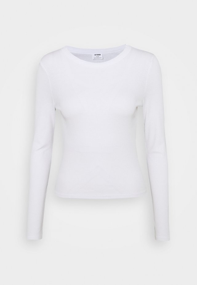 THE TURN BACK LONG SLEEVE - Long sleeved top - white