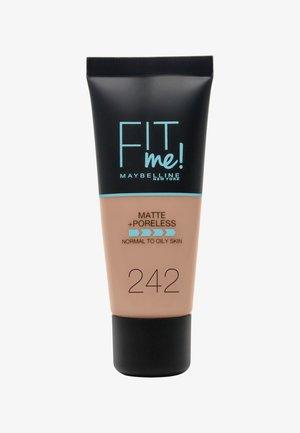 FIT ME MATTE & PORELESS MAKE-UP - Foundation - 242 light honey
