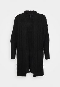 CAPSULE by Simply Be - COSY DEEP CUFF CABLE CARDIGAN NEW CABLE - Gilet - black - 0