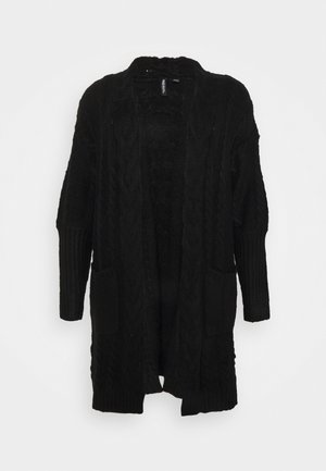 COSY DEEP CUFF CABLE CARDIGAN NEW CABLE - Kardigan - black