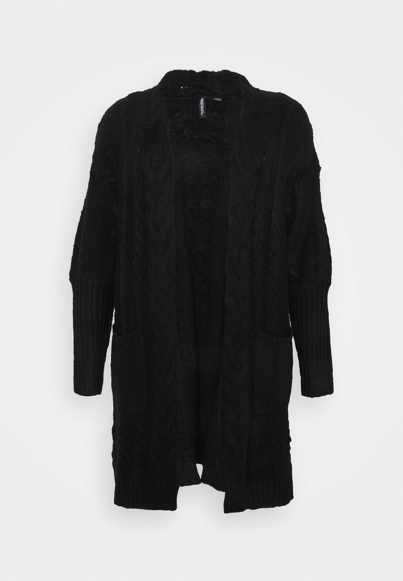 CAPSULE by Simply Be - COSY DEEP CUFF CABLE CARDIGAN NEW CABLE - Gilet - black