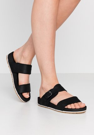 MALIBU WAVES SLIDE - Sandalias planas - black