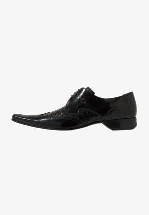 PINO WINGCAP CROC INSERT - Lace-ups - college black/antique black