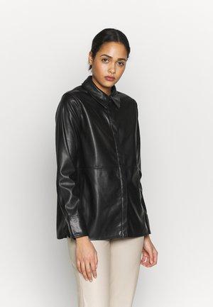 ANNIE  - Button-down blouse - black