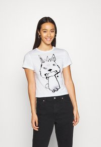 Weekday - FOREVER - Print T-shirt - thirsty dog - 0
