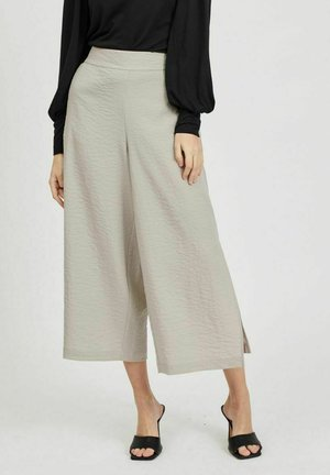 MIT WEITEM BEIN CROPPED - Trousers - dove