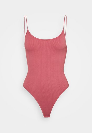 BUNGEE STRAP BODY THONG SNAP - Top - raspberry