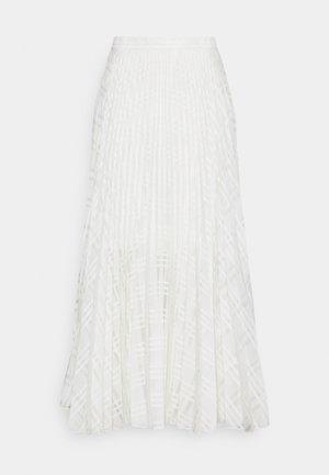 NESSA SKIRT - Spódnica trapezowa - white