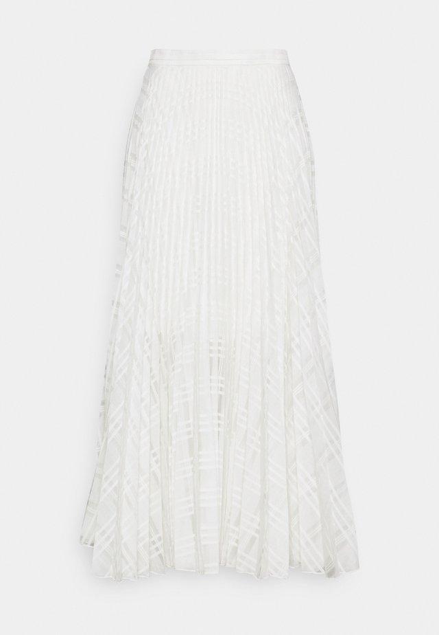 NESSA SKIRT - Jupe trapèze - white