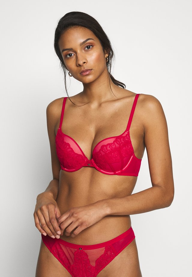 VIP GUIPURE - Push-up bra - lipstick