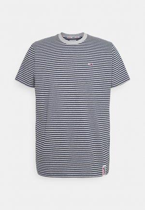 STRIPE TAB TEE - Print T-shirt - twilight navy