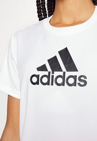 adidas Performance - T-shirts med print - white/black - 4