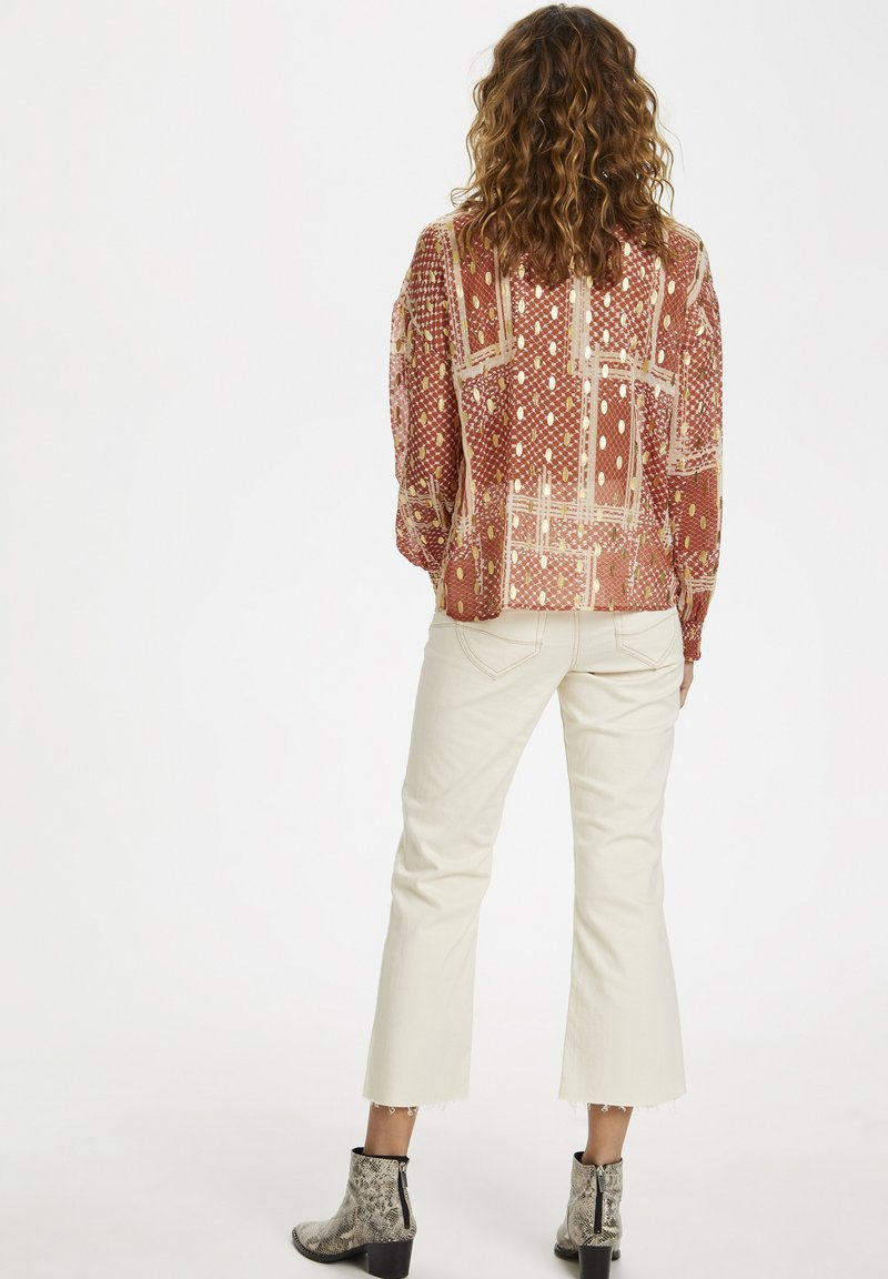 Cream Bluse - baked clay/rot-meliert mKlWF8