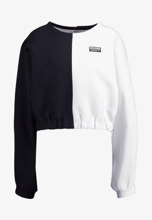 R.Y.V. CREW LONG SLEEVE PULLOVER - Jersey de punto - black/white