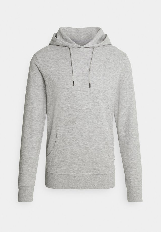 JJEBASIC HOOD  - Sweatshirt - light grey melange