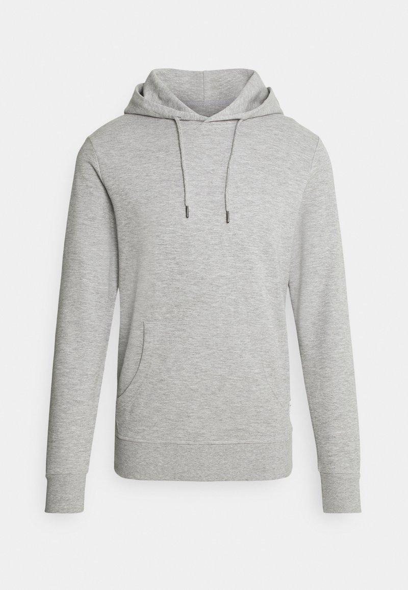 Jack & Jones - JJEBASIC HOOD  - Sweatshirt - light grey melange