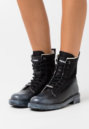 THROUPER D-THROUPER DBB WBOOTS - Lace-up ankle boots - black